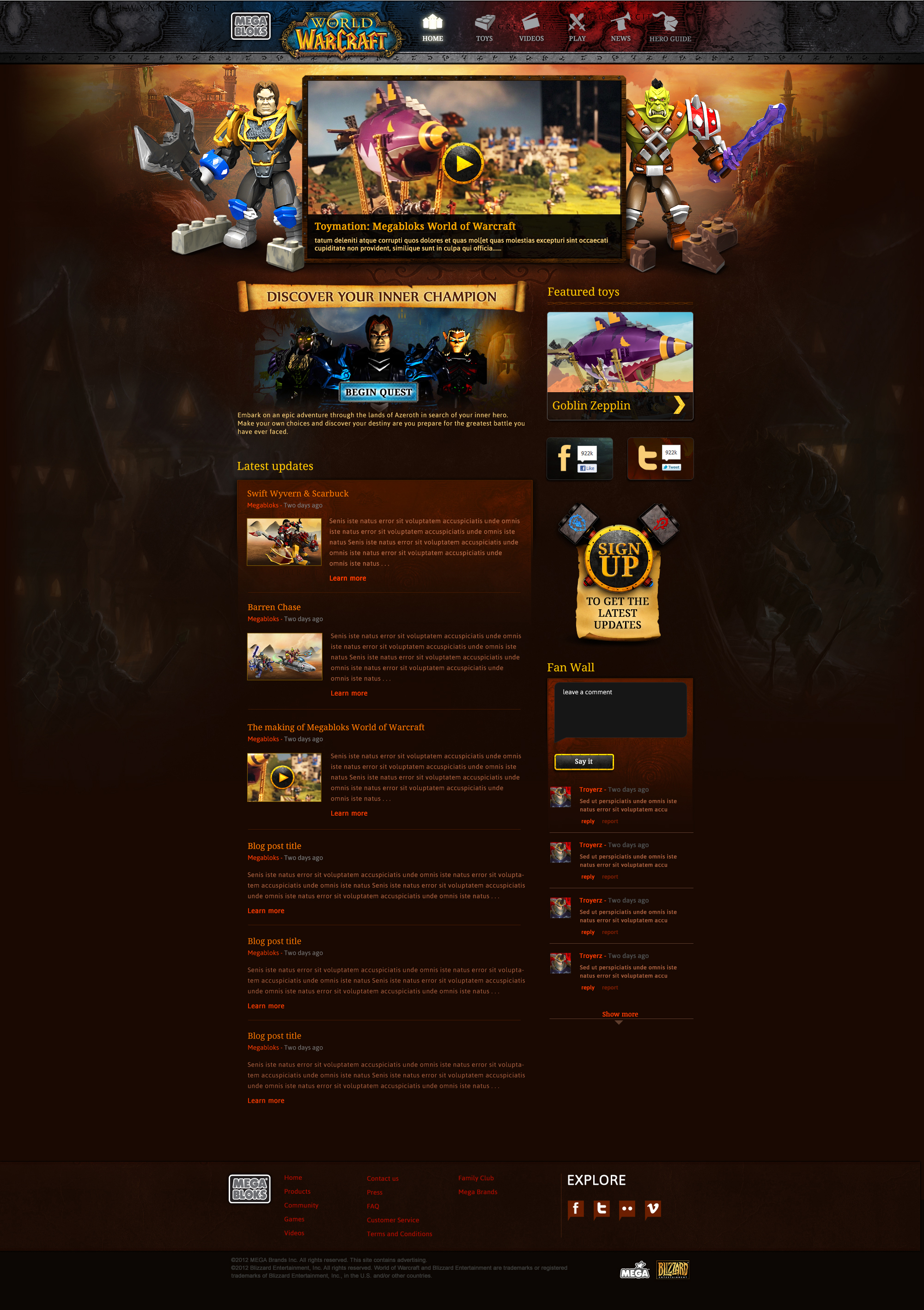 World of Warcraft Website